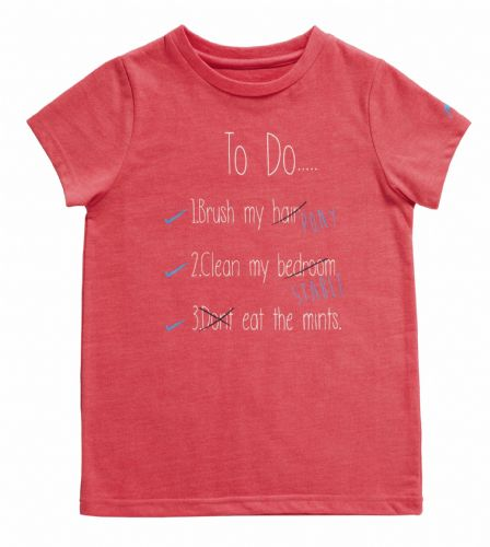 Harry Hall 'To Do' Junior T-Shirt in Pink